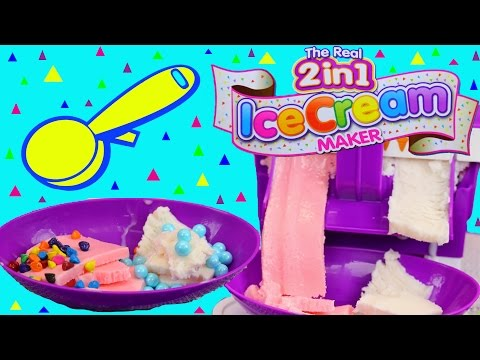 Ice cream maker with the the real 2 in 1 ice-cream machine by cra-z-art kids toys