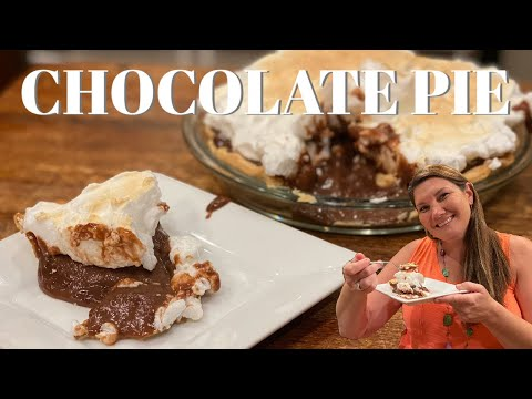 How to make chocolate pie with meringue! simple steps and delicious recipe! the best chocolate pie!