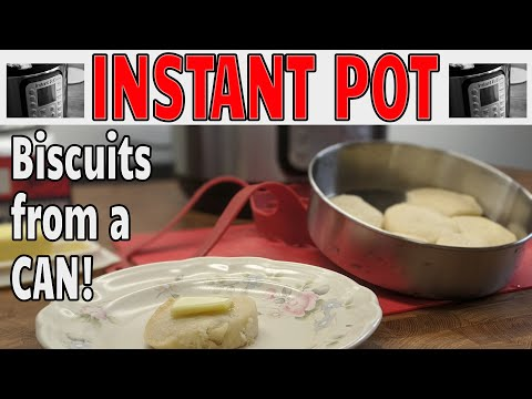 Instant pot 101 - make biscuits from a can in your instant pot so easy in your cake pan.