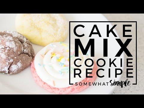 Cake mix cookies - easy 3 ingredient recipe (3 ways)