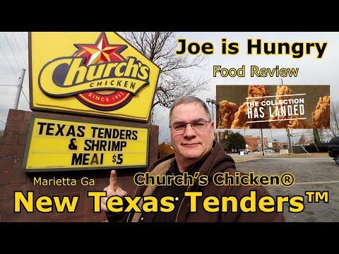 Church's chicken® new texas tenders™ review | new smoky honey-q bbq sauce™ | joe is hungry 🐓🐔🐣