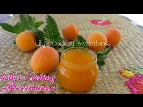 Apricot jam   how to make homemade apricot jam recipe   cach lam mut mo