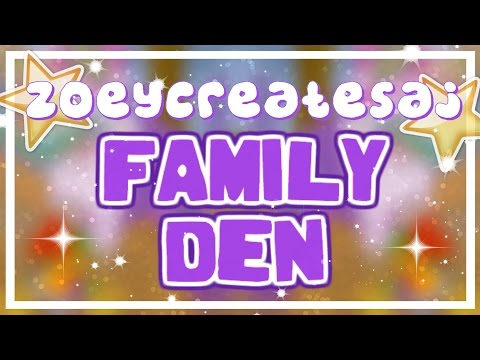 How to i make a family home with the small den on animal jam!