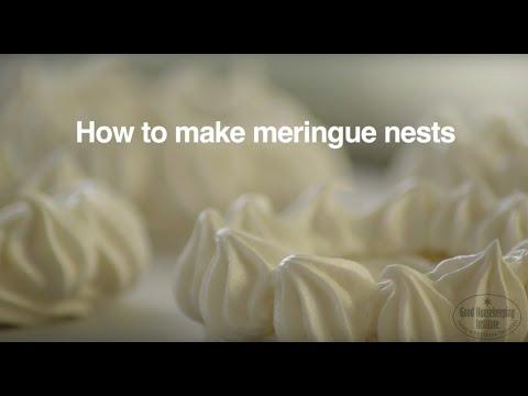 How to make meringue nests | good housekeeping uk
