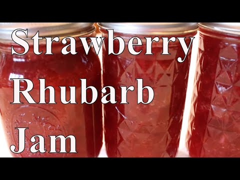 The easiest strawberry rhubarb jam ever with linda's pantry