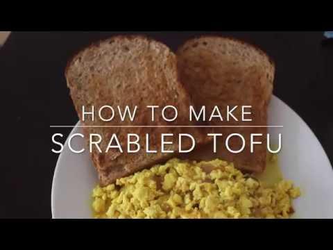 How to make vegan scrambled eggs /scrambled tofu