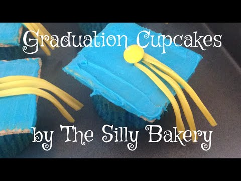 Super easy graduation cupcakes