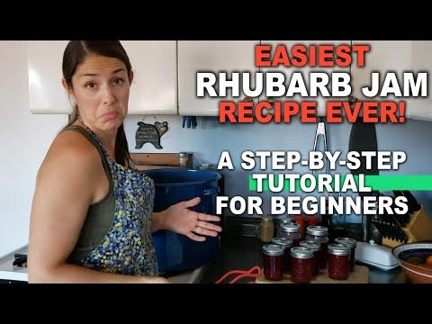 Easy rhubarb jam recipe & tutorial | rhubarb pineapple strawberry jam