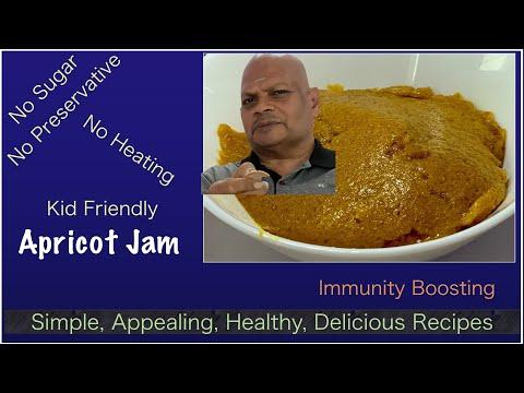Apricot jam with no sugar no heating - a kid friendly raw food recipe