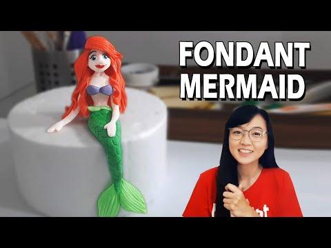 How to make fondant mermaid | mermaid cake | how to make mermaid cake topper | mermaid cake topper