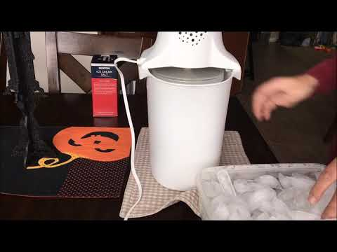 Electric ice cream maker how-to