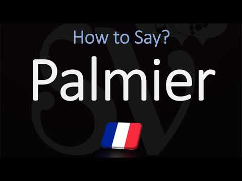 How to pronounce palmier cookie? (correctly)
