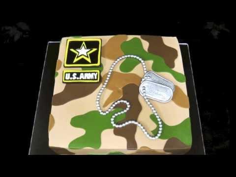 Welcome home military cake!