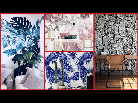 Top 90 how to make a small room look bigger with a wall mural  leaves wall paper designs
