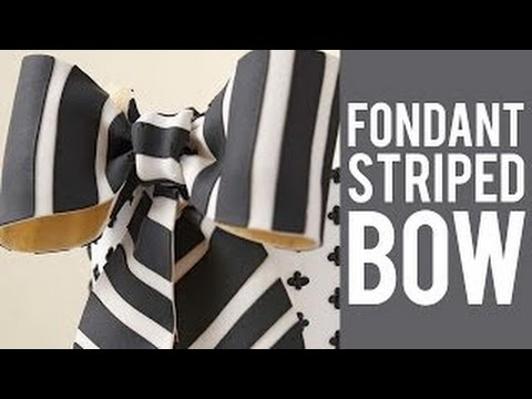 How to make a fondant bow with stripes