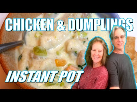 Quick and easy instant pot chicken and dumplings - with canned biscuits