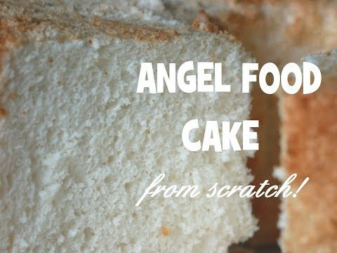 Angel food cake recipe~low fat~no oil or butter!