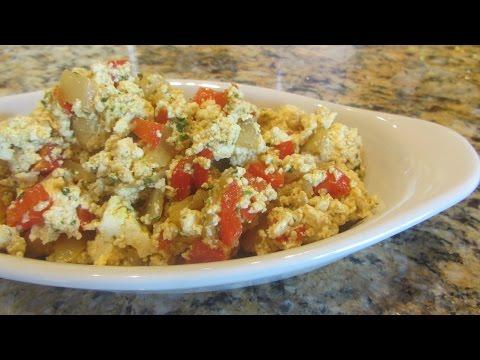 How to make scrambled tofu - easy vegan breakfast scrambled eggs dairy-free gluten free