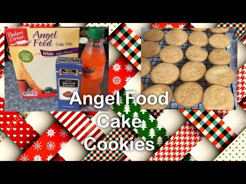 Christmas cookies: angel food cake cookies (12-4-18)