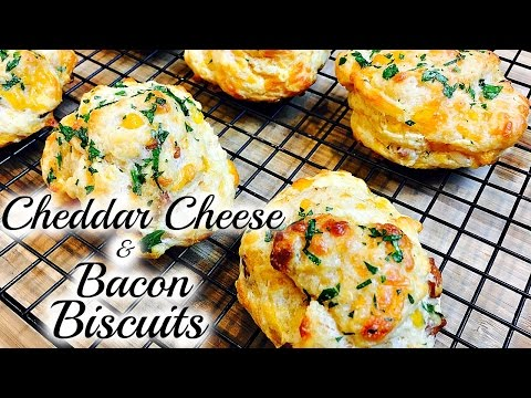 Omg!! how to make cheddar cheese & bacon biscuits   lobster biscuits   thymewithapril