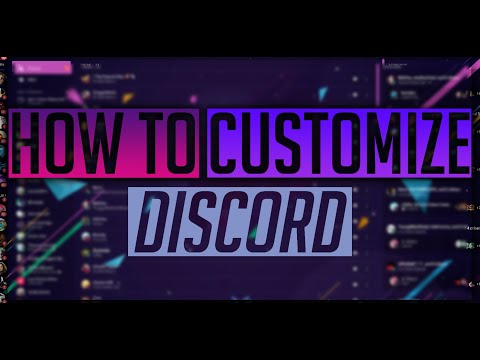 How to customize discord (menu color and background)