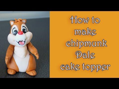How to make fondant chipmunk dale topper tutorial / jak zrobić wiewiórkę dale z masy cukrowej