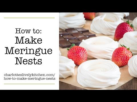 How to make meringue nests