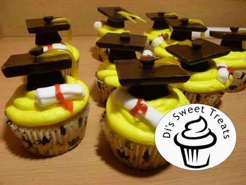 Graduation cap cupcakes- di's sweet treats