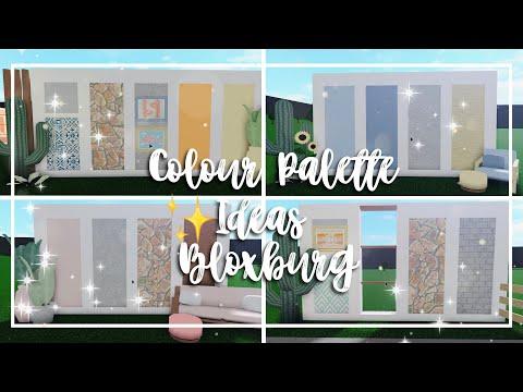 4 colour palette ideas in bloxburg i 100 subs special! i announcment on gfx art i syleitia