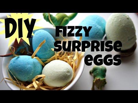 How to make surprise fizzy dinosaur eggs - bath bomb recipe