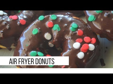 Air fryer donuts (using canned biscuits)