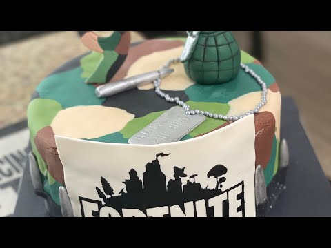 How to make camouflage fondant