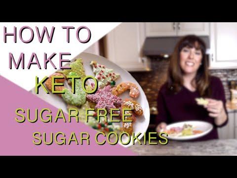 How to make sugar free keto sugar cookies: nut free, low carb, gluten free
