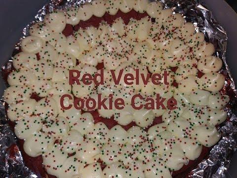 Red velvet cookie cake!