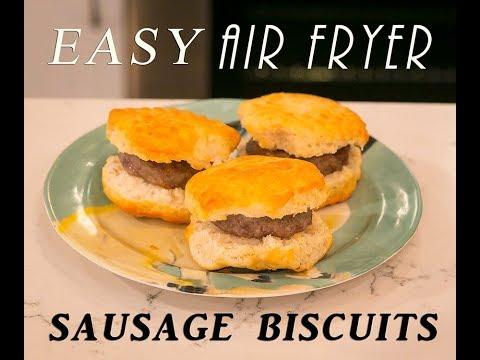 Easy air fryer sausage biscuits