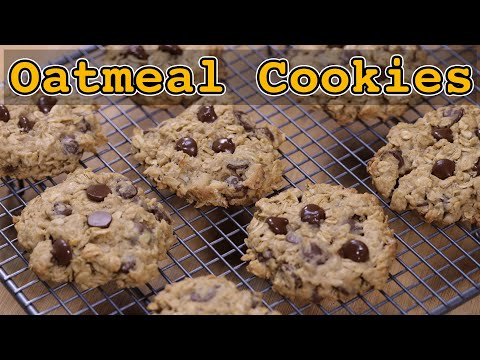 Super simple and chewy oatmeal cookies with brown sugar