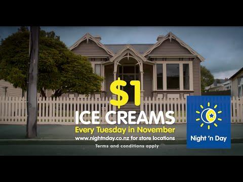 $1 ice creams every tuesday in november