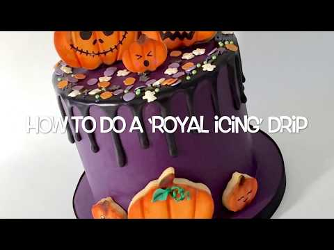 How to do a 'royal icing' drip on fondant covered cakes