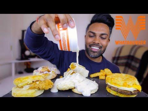 Whataburger breakfast | mukbang