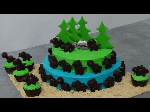 How to make dinosaur cake