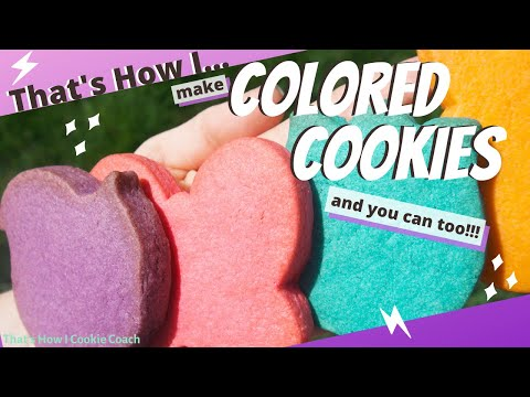 How to make sugar cookies with colored dough// lemon flavored sugar cookies brightly colored cookies