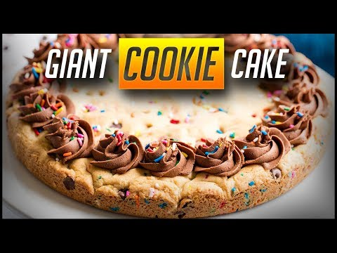 How to make chocolate chip cookie cake | the stay at home chef