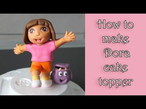 How to make fondant dora tutorial / jak zrobić dziewczynkę dorę z masy cukrowej