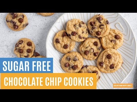 Sugar free chocolate chip cookies for diabetics | the easiest low sugar cookie recipe ever!