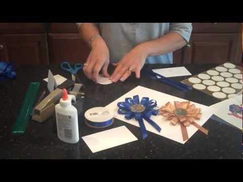 How to make a rosette award ribbon medallion