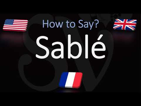 How to pronounce sablé cookies? (correctly)