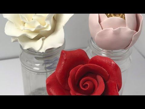 Simple and easy fondant flowers