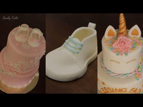 How to make baby fondant shoes | braided fondant | unicorn gaely cake