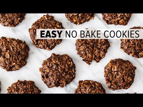 No bake cookies | easy chocolate oatmeal cookie recipe