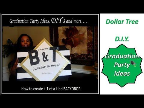 Dollar tree diy   graduation party ideas   dessert table   bry's party part 1
